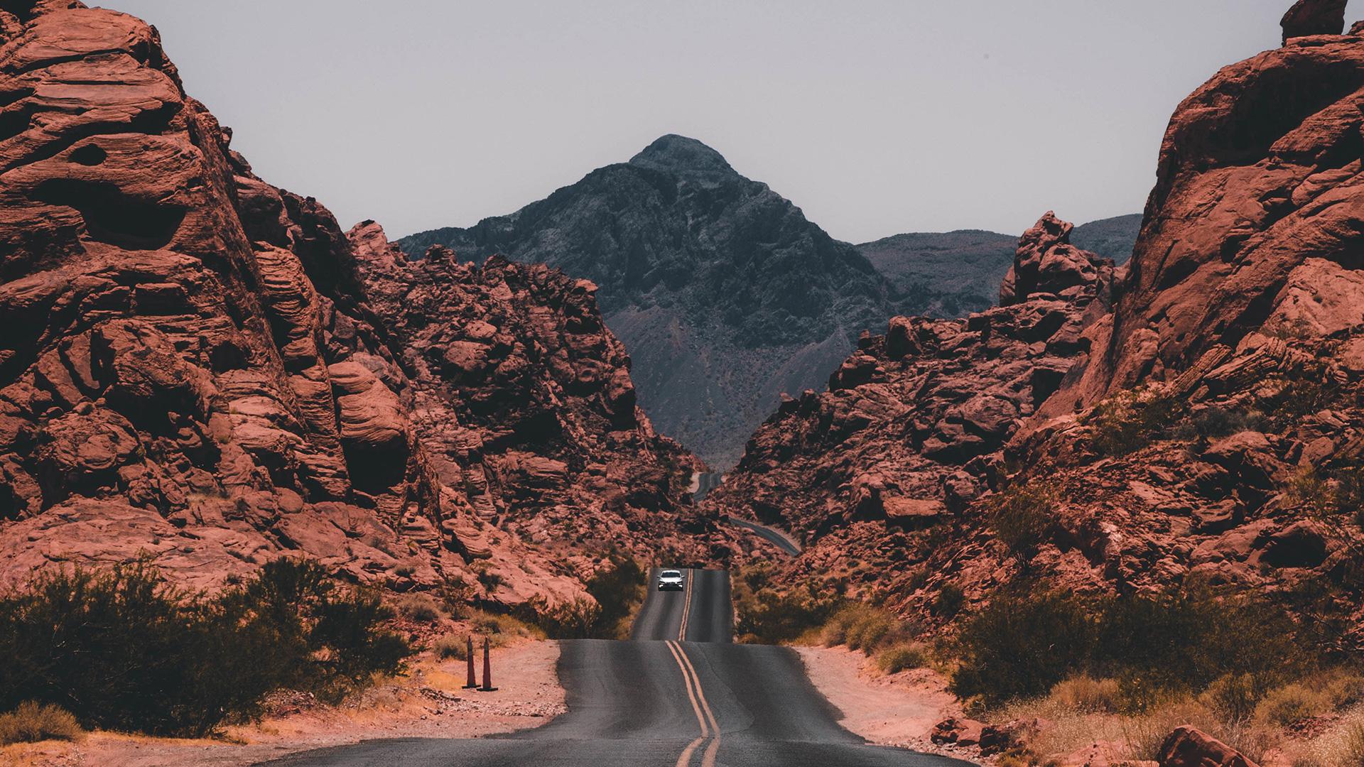 The Highway Road Between two Hills