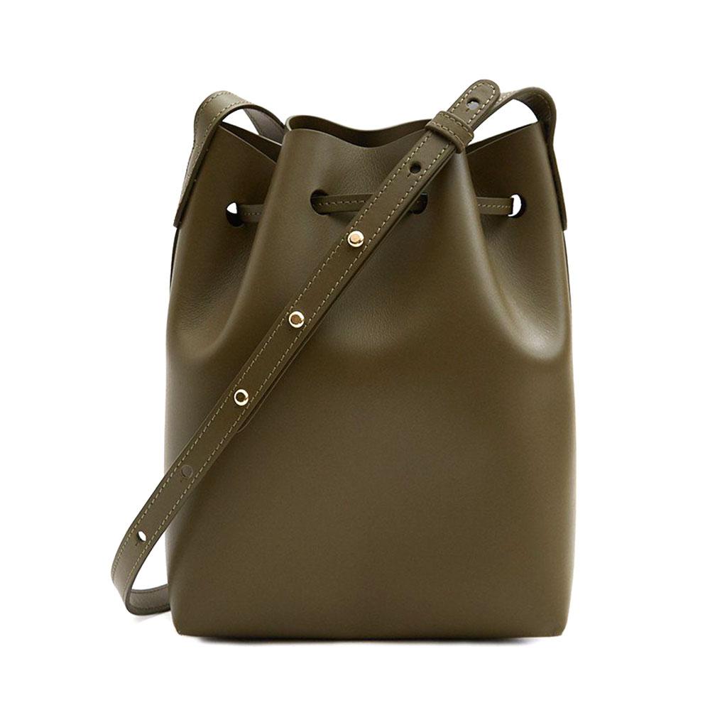Mini Bucket Bag in Olive