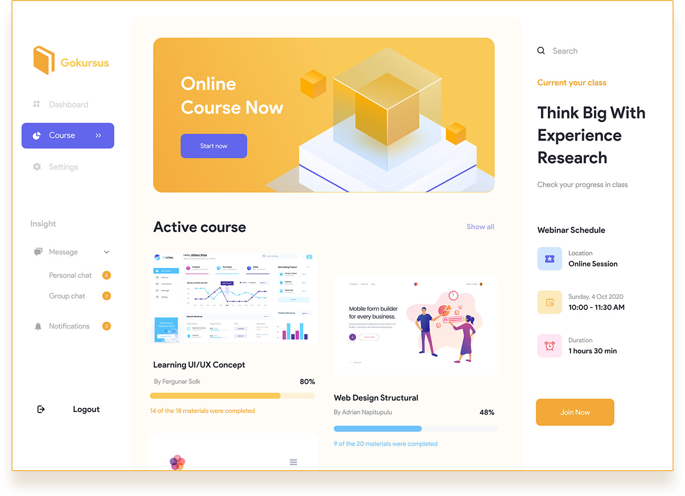 Online Course Admin Template